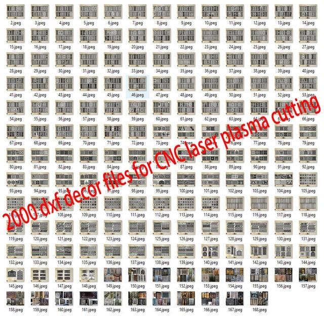 2000 باب معدني ديكور المنزل حديقة ورقة dxf تنسيق 2d ناقلات تصميم الرسم لجمع ملفات القطع البلازما بالليزر باستخدام الحاسب الآلي