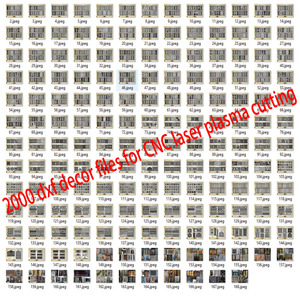 Image 1 - 2000 metal door home garden decor sheet dxf format 2d vector design drawing for CNC laser plasma cutting files collection