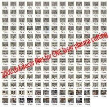 2000 metalowe drzwi domu wystrój ogrodu arkusz dxf format 2d wektor projekt rysunek dla CNC laserowe cięcie plazmowe pliki kolekcja