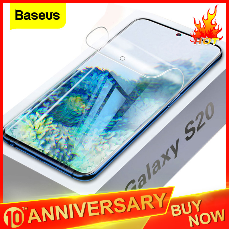 Baseus 0.15mm Screen Protector For Samsung Galaxy S20 Ultra Full Cover Hydrogel Film For Samsung S20+ S20 Soft Protective Film