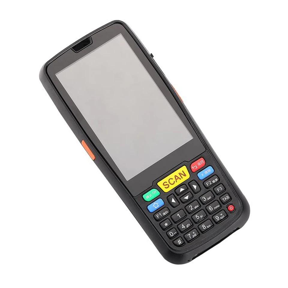 4G cep telefonu Android 7.0 el PDA terminali 2D barkod tarayıcı barkod  okuyucu WiFi Bluetooth GPS RFID UHF barkod okuyucu|Scanners