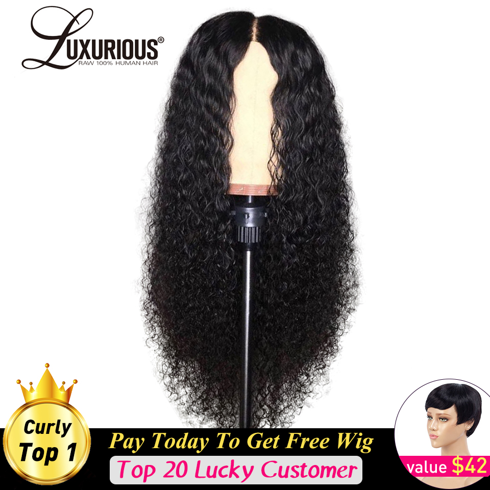 Curly Human Hair Wigs Natural Color Bleached Knots Brazilian Remy 13x6 Lace Front Human Hair Wigs With Baby Hair Pre-Plucked Wig