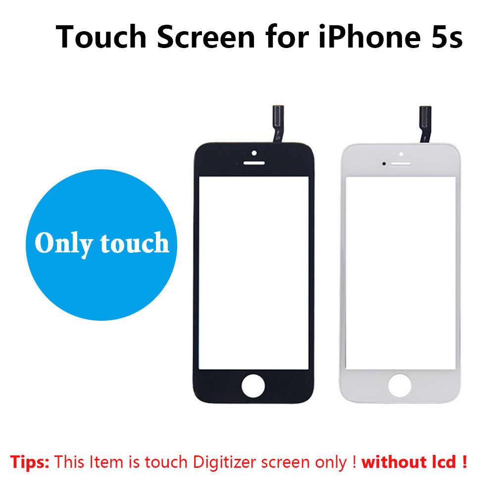 מסך מגע Digitizer מסגרת עבור iPhone 5 5S 6 בתוספת 6S מסך מגע קדמי לוח מגע זכוכית עדשה 6 p 6s טלפון אביזרי + סרט