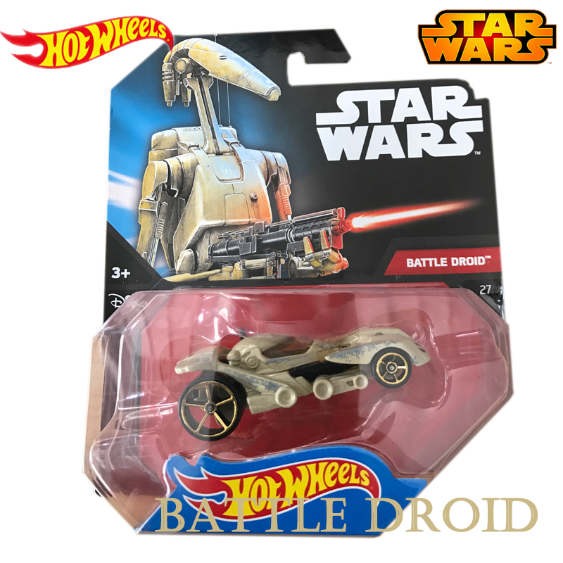 Battle Droid Star Wars Classic Science Fiction Film Same Style Genuine Hot Wheels  Series Role Track Vehical Toys of Boy CWG35