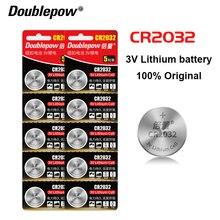 10 шт. Оригинальная Кнопка CR2032 3 в литиевые батареи для часов игрушки Компьютер пульт дистанционного управления калькулятор Кнопка Батарея cr...