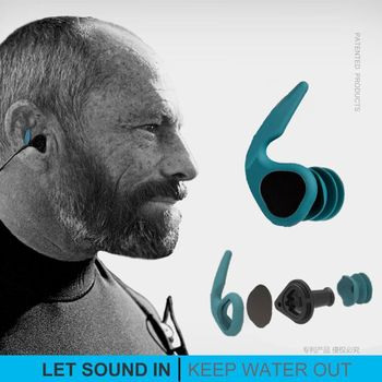 Innovation Design Swimming Ear Plugs Soft Silicone Sound Penetration Waterproof Dust-Proof Earplugs Diving Water Surf Swim