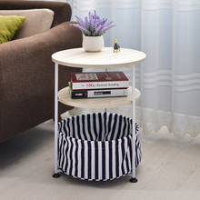 Simple Small Household Movable Round Sofa Side Table Telephone Mini On Sale