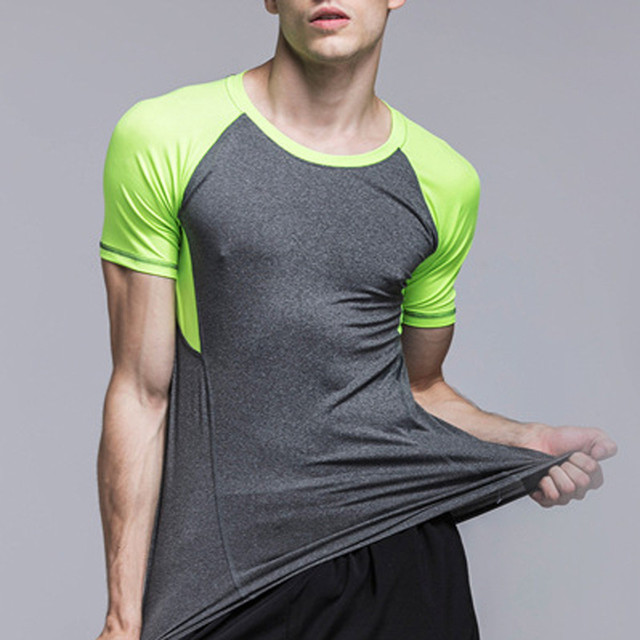 Men s Running T shirts Quick Dry Compression Sport T shirts Fitness Gym Running Shirts Soccer