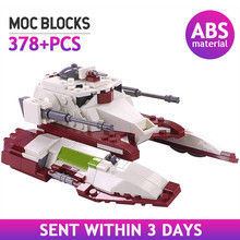 MOC Star Movie Republic Space Fighter Tank Building Blocks of the Military Self Propelled Anti Tank Weapon Bricks Assemble toys