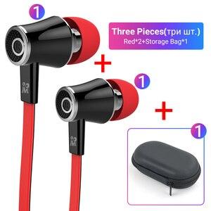 Image 2 - Langsdom Mijiaer JM21 3.5mm kulaklık kablolu kulaklık 2 adet 1 adet fermuarlı saklama çantası için en iyi maç taşıma dışında