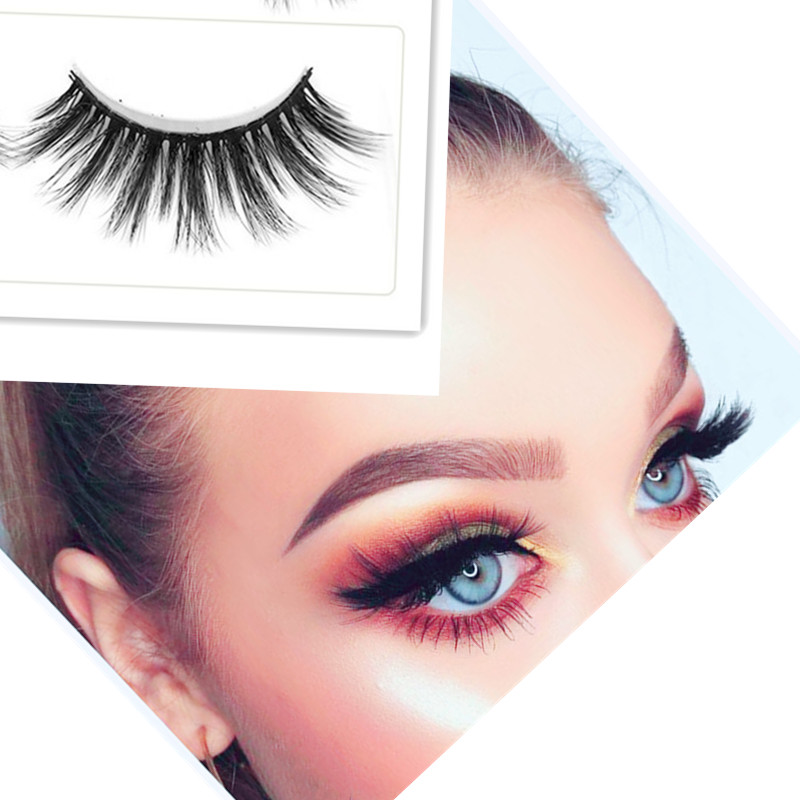 1 pairs of fashion hot natural handmade long fake black eyelash makeup magnetic eyelashes hair