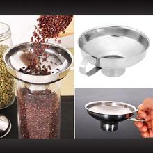 OIL-HOPPER-FILTER Dressing-Funnel Handle Cooking-Tool Stainless-Steel Kitchen Wide-Mouth
