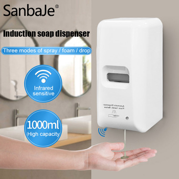 1000ML Automatic Hand Sanitizer Dispenser Touchless Hand Disinfection Wall-mounted Alcohol Mist Spray Induction Soap Dispenser new arrival automatic induction type wall hanged alcohol spray hand disinfection machine hand cleaner sterilization tool