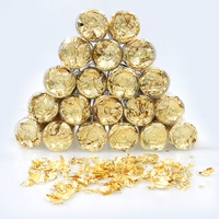 20PC Gold Edible Candy Mini Foil Cupcake Cake Toppers Celebrations Candy Shaker Jar Wedding Shower Party Cake Food Decoration