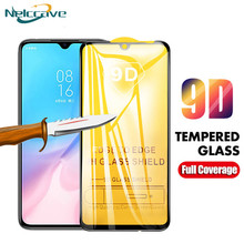 50 Pieces Full Coverage 9D Tempered Glass For Xiaomi A3 Lite Mi A2 A1 5X 6X Mi7 Play Note 3 Pocophone F1 F2 Screen Protector(China)