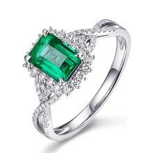 New Luxury Green Crystal Rings For Women  AAA Cubic Zirconia Wedding Fashion Jewelry Z3D429