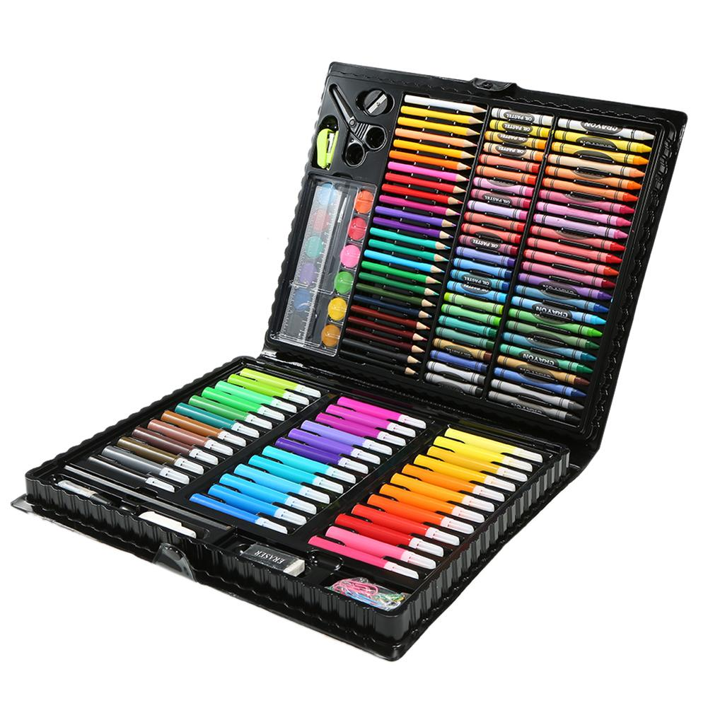 150Pcs/Set Kids Non-toxic Art Drawing Painting Tool Marker Pens Wax Crayon Oil Pastel Painting Tools Gift For Children