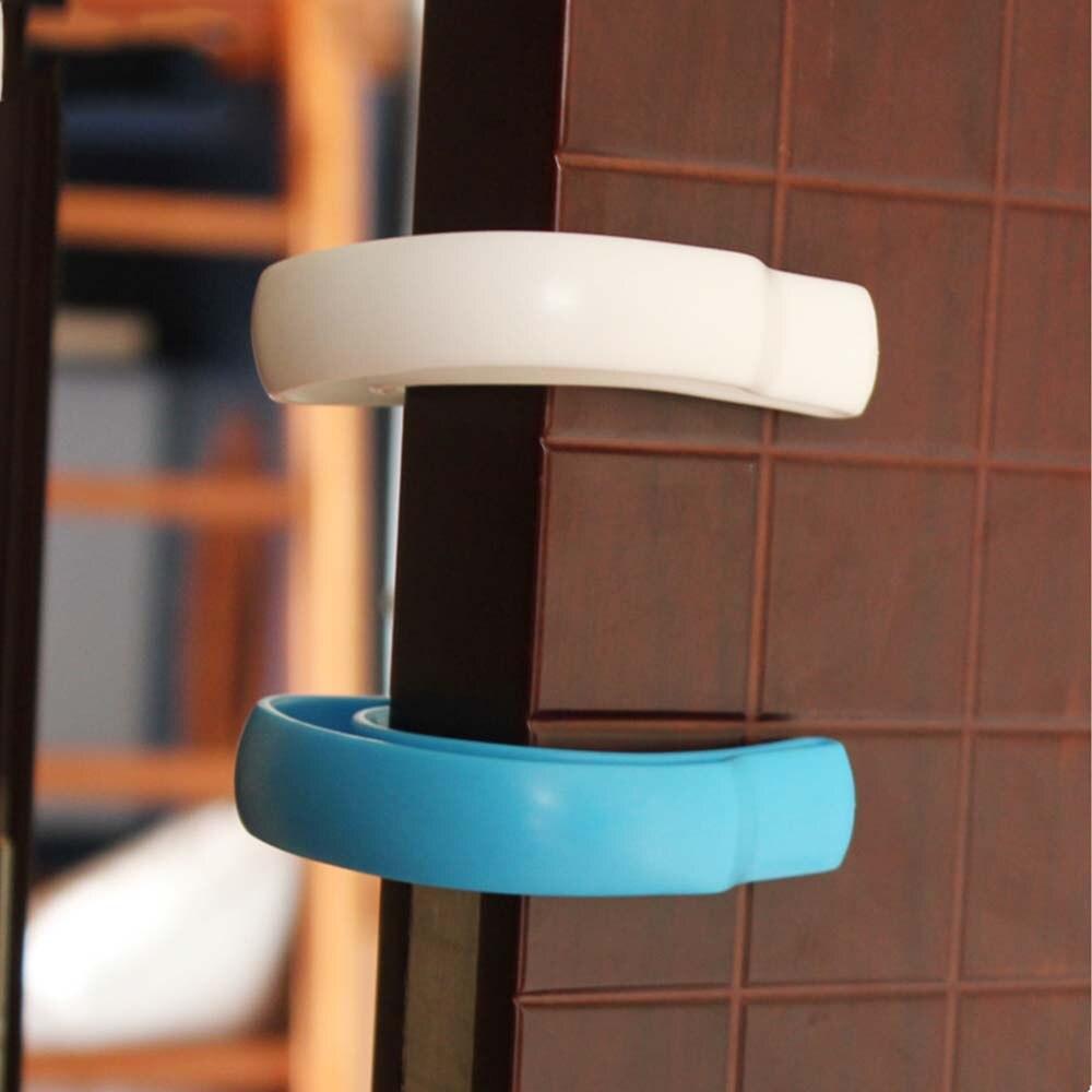 2Pcs U Shape Children Kids Room Door Guard Stopper Baby Safety Pinch Jammer Door Stop Plastic Anti Finger