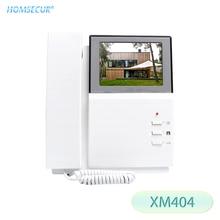 "HOMSECUR XM404 4,3 ""LCD Video intercomunicador timbre Video sistema de teléfono de puerta Audio bidireccional con auricular"