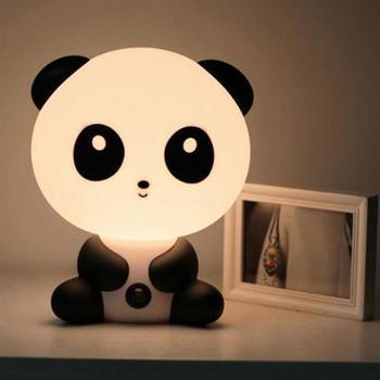 Panda/Bear Cartoon Night Light Kids Bed Lamp Sleeping For Children Room EU/US Plug