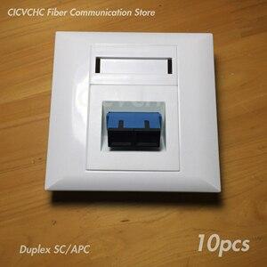 Image 4 - Panneau de 10 pièces 86x86mm pour adaptateur SC Duplex ou adaptateur Quad LC/blanc/FTTH ODN