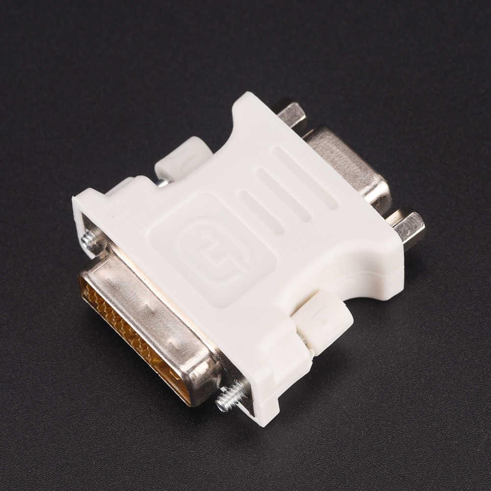 رصد محول-25 دبوس (وصلة مزدوجة) DVI-D ذكر إلى 15 دبوس VGA أنثى جديد 24 + 1 دبوس DVI-D-D-M إلى VGA-F محول الفيديو
