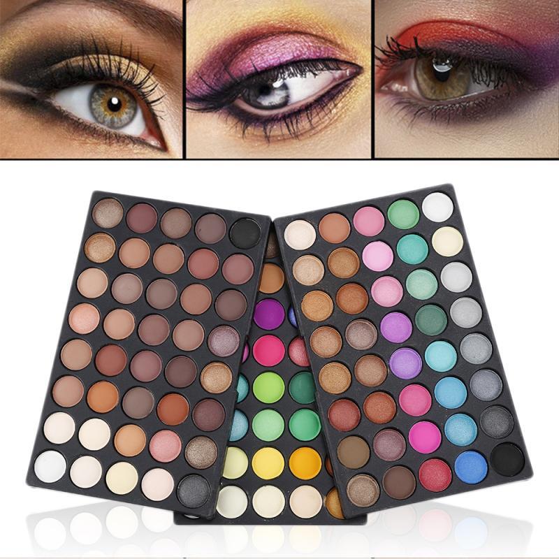 Hot Sale POPFEEL 120 Colors Pressed Glitter Eyeshadow Palette Rainbow Palete Waterproof Matte Eye Shadow Makeup Pallete TSLM2