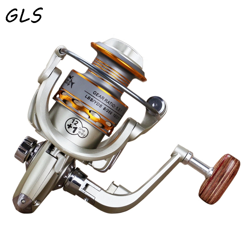 2020 New  Fishing coil Wooden handshake 12+ 1BB Spinning Fishing Reel Professional Metal Left/Right Hand  Fishing Reel Wheels 2