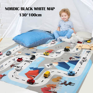 Toys Play-Mat Game-Scene Parking-Map City-Road Baby Kids Educational-Toys Buildings