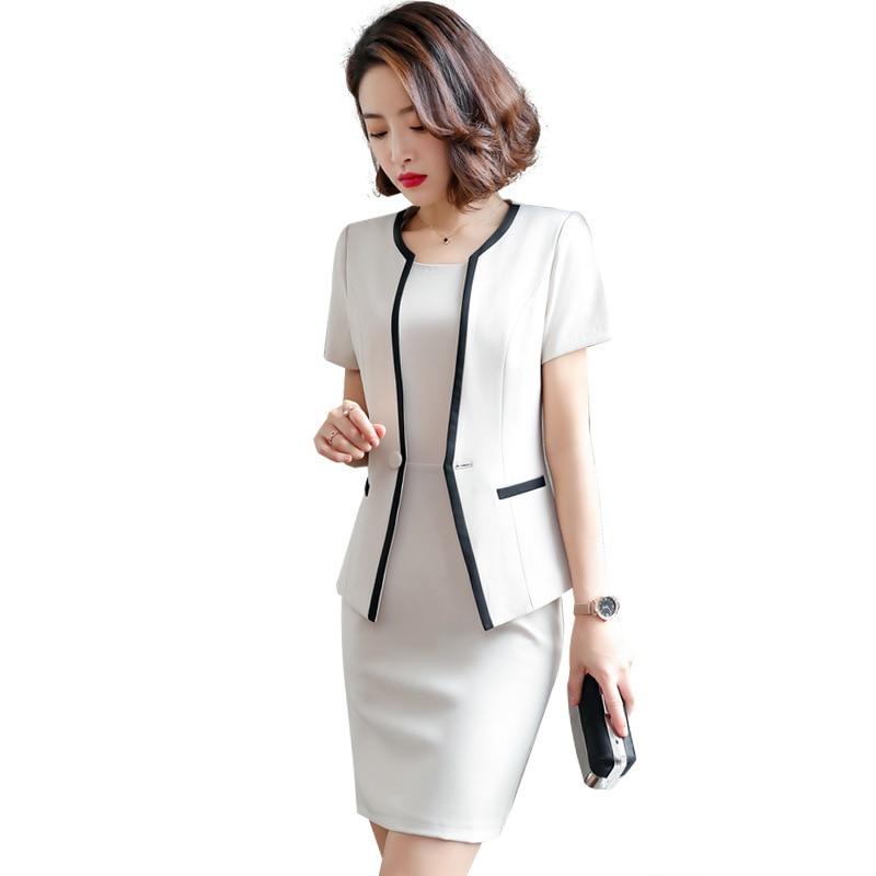 Female Formal Dress Blazer Women Dresses With Jacket Women's  Dress Suit Set Office Wear Work For Ladies Evening Elegant Costume