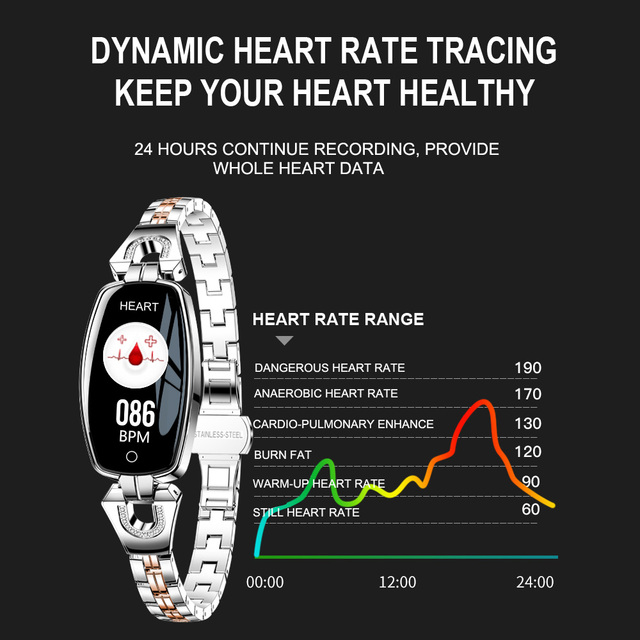 Willkey H8 Smart Watch Women 2020 Waterproof Heart Rate Monitoring Bluetooth Watch For Android IOS Fitness Bracelet Smartwatch 2