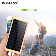 For Xiaomi mi iphone redmi Ultra-thin Solar Power Bank 30000