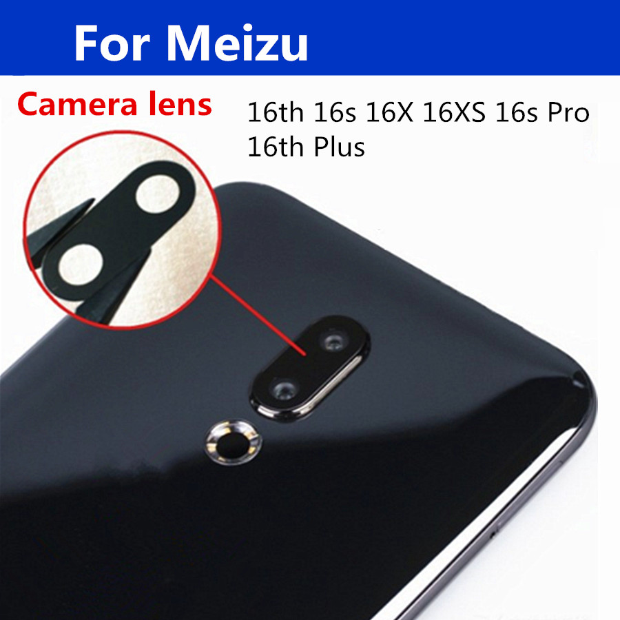 High quality For <font><b>Meizu</b></font> 16x 16s <font><b>16th</b></font> 16xs 16S pro plus Glass Back Rear <font><b>Camera</b></font> Glass Lens Replacement For <font><b>meizu</b></font> 16 S Pro image