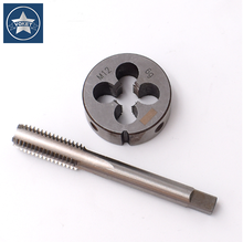VOKET Hss 2pcs metric tap and round die set m15x2 fine thread tap and round die set M15x0.5 m15x0.75 m15x1 m15x1.25 m15x1.5