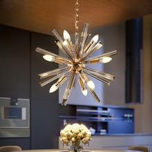 Современный Люстра светильник ing для гостиной американский стиль стеклянный подвесной светильник s скандинавский барный светильник столовая люстра