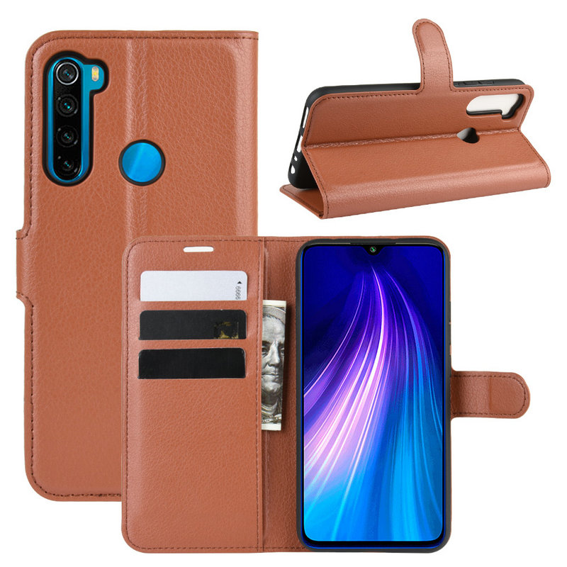 Luxury Flip Leather Case cover for <font><b>Xiaomi</b></font> <font><b>Redmi</b></font> <font><b>Note</b></font> 8T for <font><b>Xiaomi</b></font> <font><b>Redmi</b></font> <font><b>Note</b></font> <font><b>8</b></font> <font><b>Pro</b></font> 128GB Phone Cover Wallet case with Stand image