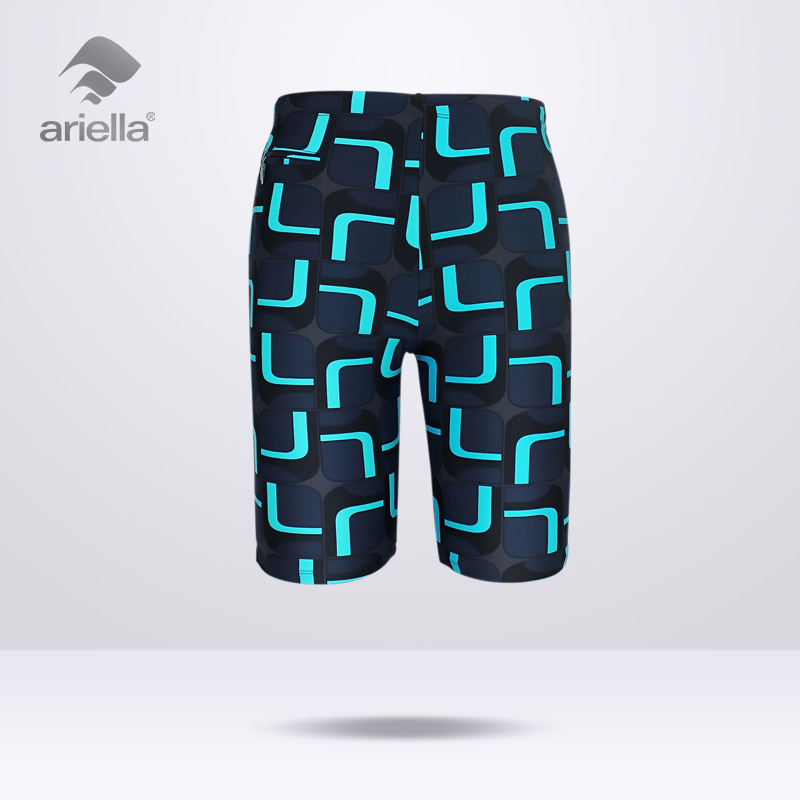 New Style MEN'S Swimming Trunks Boxer Short Swimming Trunks Hot Springs Bathing Suit Fashion Large Size Profession Outside