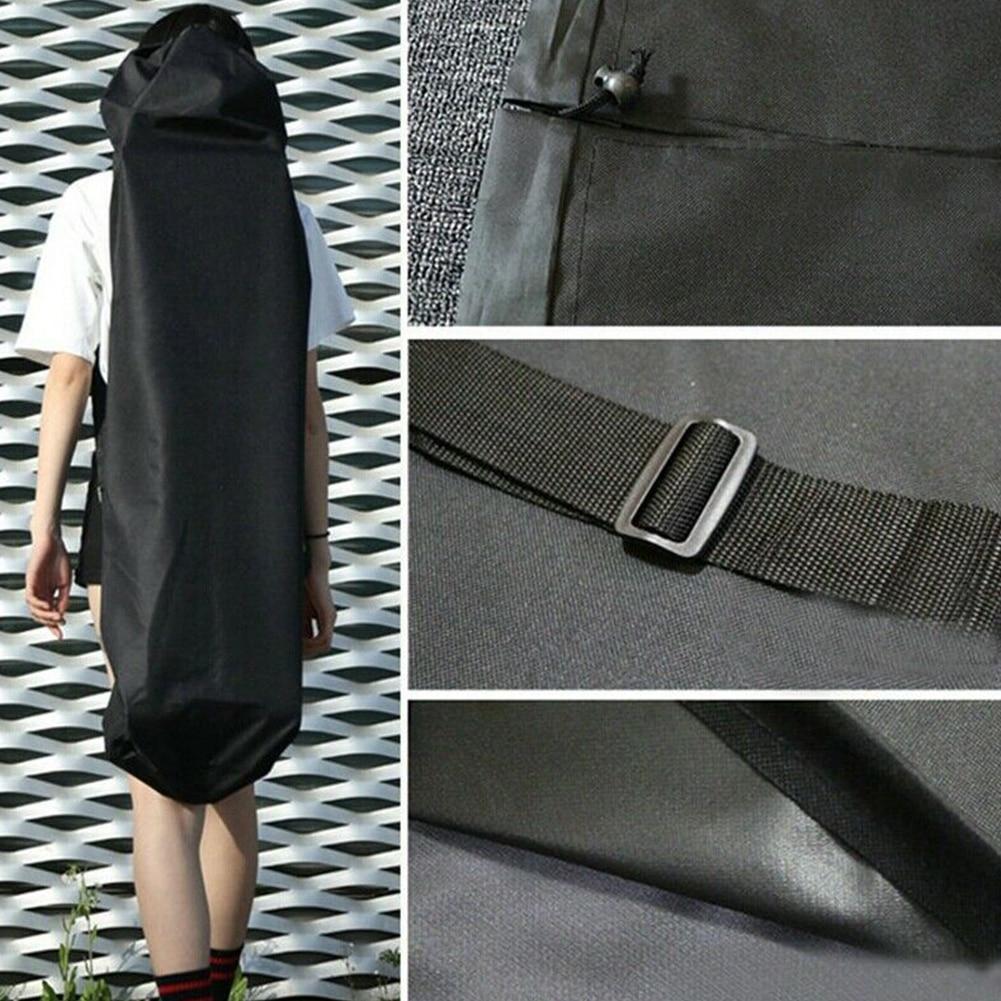 Practical Skateboard Bag Black Single Shoulder Storage Travel Longboard Backpack Thickened Waterproof Protection Oxford Cloth