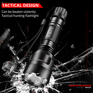 Image 2 - Super Bright LED Flashlight 1/5 Modes Tactical Torch T6 L2 Lanternas for Night Riding Camping Hiking Hunting Use 18650