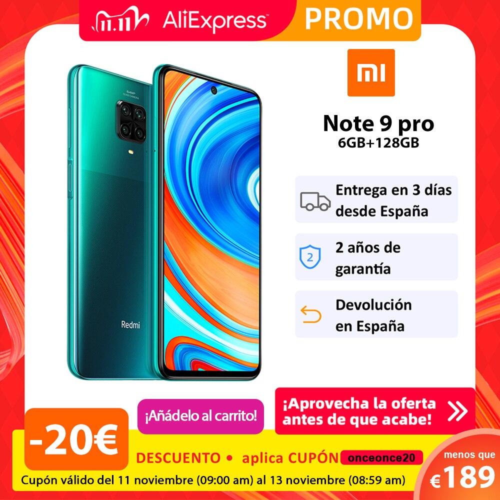 Xiaomi Redmi Note 9 PRO por 189,00 euros (-40% desc.)