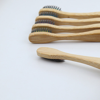5PCS Eco friendly bamboo toothbrush wooden tooth brush soft-bristle tip charcoal for adults oral care portable 6