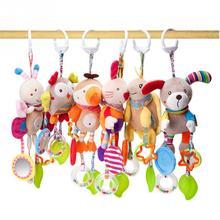 נייד תינוק רעשן תינוק צעצועי קריקטורה בעלי החיים קטיפה יד פעמון תינוק עגלת עריסה תליית רעשנים תינוקות בני בנות מתנות игрушки