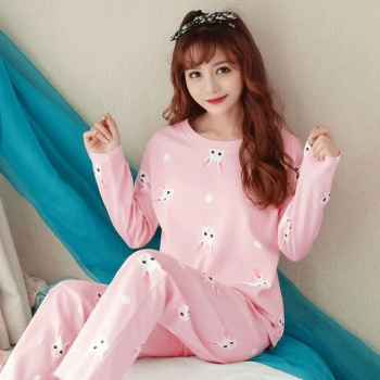 Women pajamas Thin Pajamas for women New sleepwear Cartoon pijama Printed pyjamas women Long Sleeve pijama mujer Cute pajama set 2