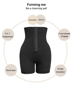 Image 4 - High Waist Body Shaper Butt Lifter with Tummy Control Shapewear Boyshorts Sexy Lingerie Seamless Thigh Slimmer Women Plus Size