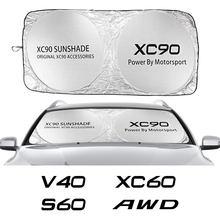 Auto Windschutzscheibe Sonnenschirme Abdeckung für Volvo AWD C30 C70 S60 S80 S90 T6 V40 V50 V60 V70 V90 XC40 XC60 XC70 XC90 Auto Zubehör