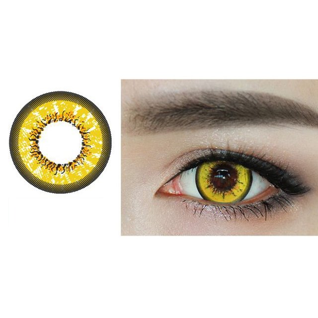 One Pair/set Charming Eyes Unisex Coloured Circle Big Eye Beauty Contact Lenses Cosmetic Beauty Tool Contact Lenses Eye Wear 3