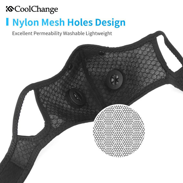 CoolChange Cycling Face Mask Activated Carbon With Filter PM2.5 Anti-Pollution Bike Sport Protection Dust Mask Anti-droplet 4