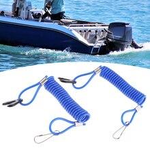 סירת מנוע להרוג עצור מתג & בטיחות לקשור שרוך עבור ימאהה מנוע חיצוני מנוע חלקי כחול 9cm סירת אביזרים ימי