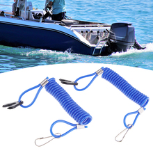 2 Pcs Marine Motor Kill Stop Switch & Safety Tether Lanyard For Yamaha Outboard Engine Parts Blue 9cm Boat Accessories