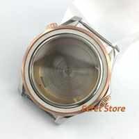 Lucido 41 millimetri in oro Rosa nero in acciaio inox zaffiro fit ETA 2836 Miyota 82 DG3804 luminoso lunetta in ceramica orologio caso p161